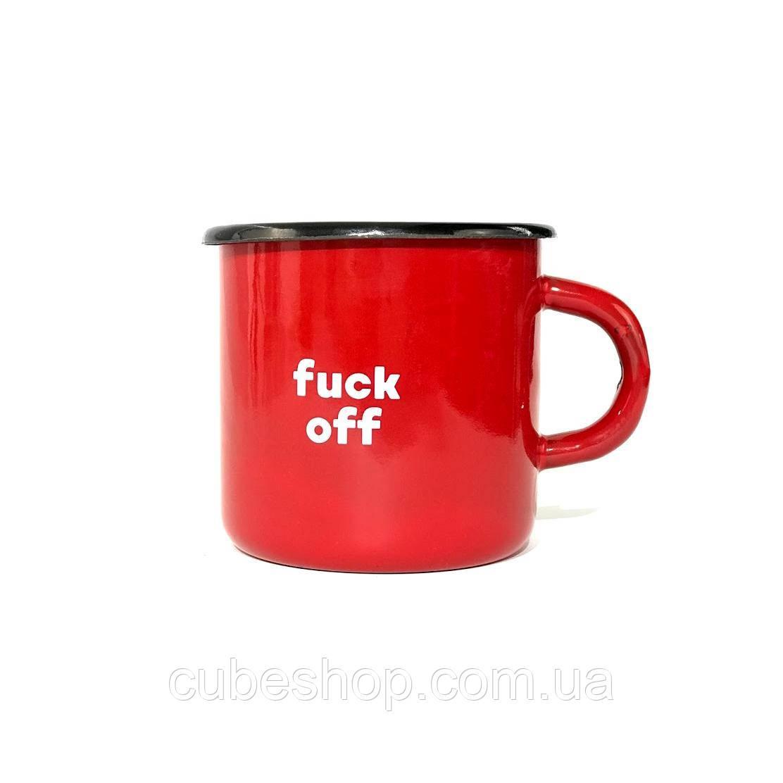 Чашка эмалированная «Fuck off» (270 мл)