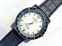 Мужские кварцевые наручные часы Bvlgari на кожаном ремешке
