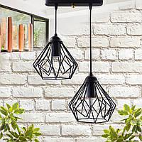 """Подвесной металлический светильник, современный стиль, loft, vintage, modern style """"SKRAB-2"""" Е27  черный цвет"""