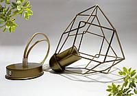 """Подвесной металлический светильник, современный стиль, loft, vintage, modern style """"RUBY-G"""" Е27  золотой цвет"""