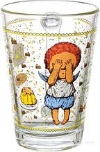 Стеклянная чашка 260 мл для чая, горячих напитков UniGlass Gapchinska Тортик