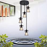 """Подвесной металлический светильник, современный стиль, loft, vintage """"SANDBOX-5G"""" Е27  черный цвет"""