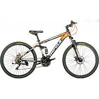 """Велосипед IMPULS SWORD 26"""" Рама 15"""" черно-бело-оранжевый"""