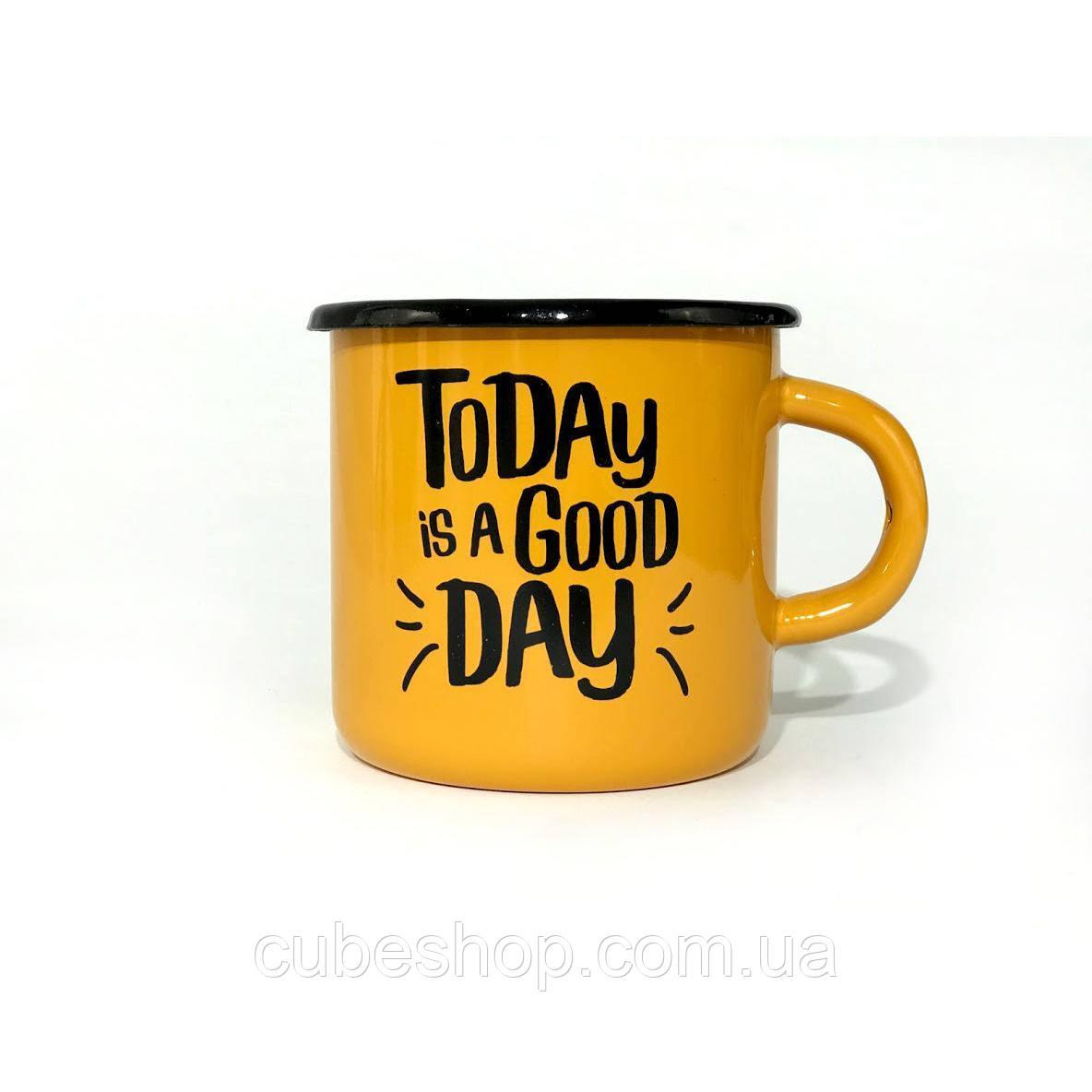Чашка эмалированная «Today is a good day» (270 мл)
