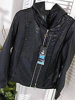 Куртка кожзам батальная с капюшоном 54 размер, фото 1