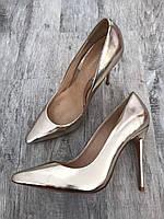 Женские кожаные туфли лодочки на каблуке Cosmoparis Бразилия 37р