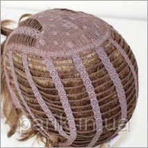 Оплетка и локоны на шапке для парика