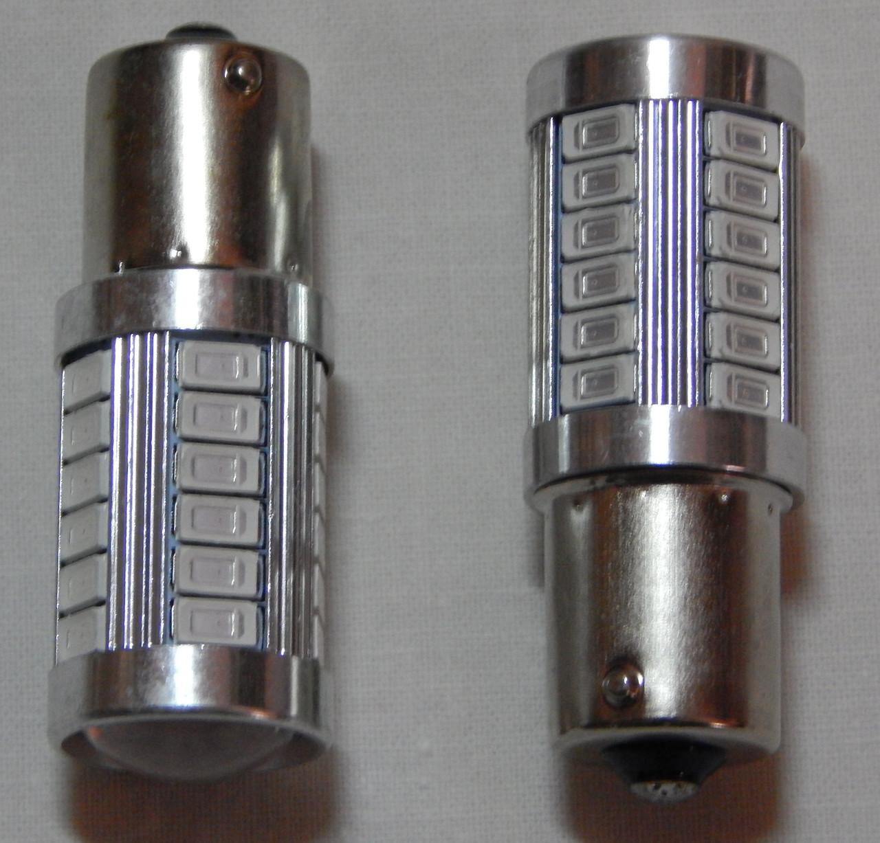 Лампа автомобільна світлодіодна ZIRY BA15S - P21W, червона