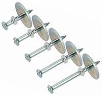 Дюбель-гвозди для монтажных пистолетов 3,7х27 мм - 100 шт с шайбой 25 мм