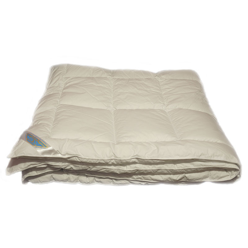 Одеяло Лебединый пух 175 на 215 см Бежевый