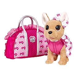 Собачка Chi Chi Love - Чихуахуа Фешн. Розовая мода (с сумочкой) 20см, Simba 5+ (5893346)