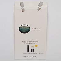 Мини парфюмерия мужская Bvlgari Aqua pour homme в подарочной упаковке 3х15 ml  DIZ