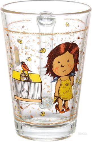 Стеклянная чашка 260 мл для чая, горячих напитков UniGlass Gapchinska Кекс