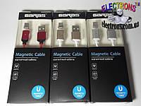 Магнитный кабель Тип-с, type-C USB зарядка c магнитным наконечником, фото 1