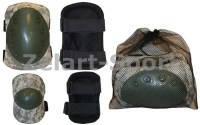 Защита тактическая наколенники, налокотники (р-р XL, ABS, полиэстер 600D хаки)