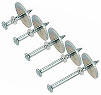 Дюбель-гвозди для монтажных пистолетов 3,7х37 мм - 100 шт с шайбой 25 мм