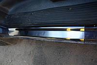 Накладки на пороги (на карниз) Mercedes Vito 638 (мерседес вито 638), с логотипом нерж.