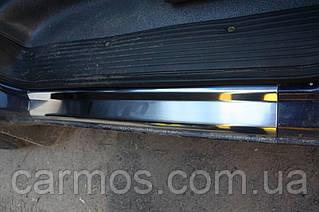 Накладки на пороги (на карниз) Mercedes Vito 638 (мерседес віто 638), з логотипом нерж.