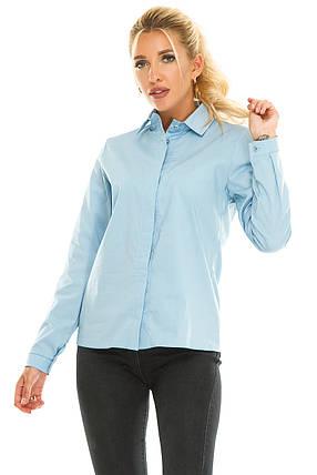 Рубашка 611 голубая, фото 2