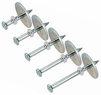 Дюбель-гвозди для монтажных пистолетов 3,7х47 мм - 100 шт с шайбой 25 мм