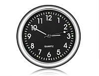 Автомобильные часы Elegant Кварцывые часы в авто Черный цыферблат, фото 1