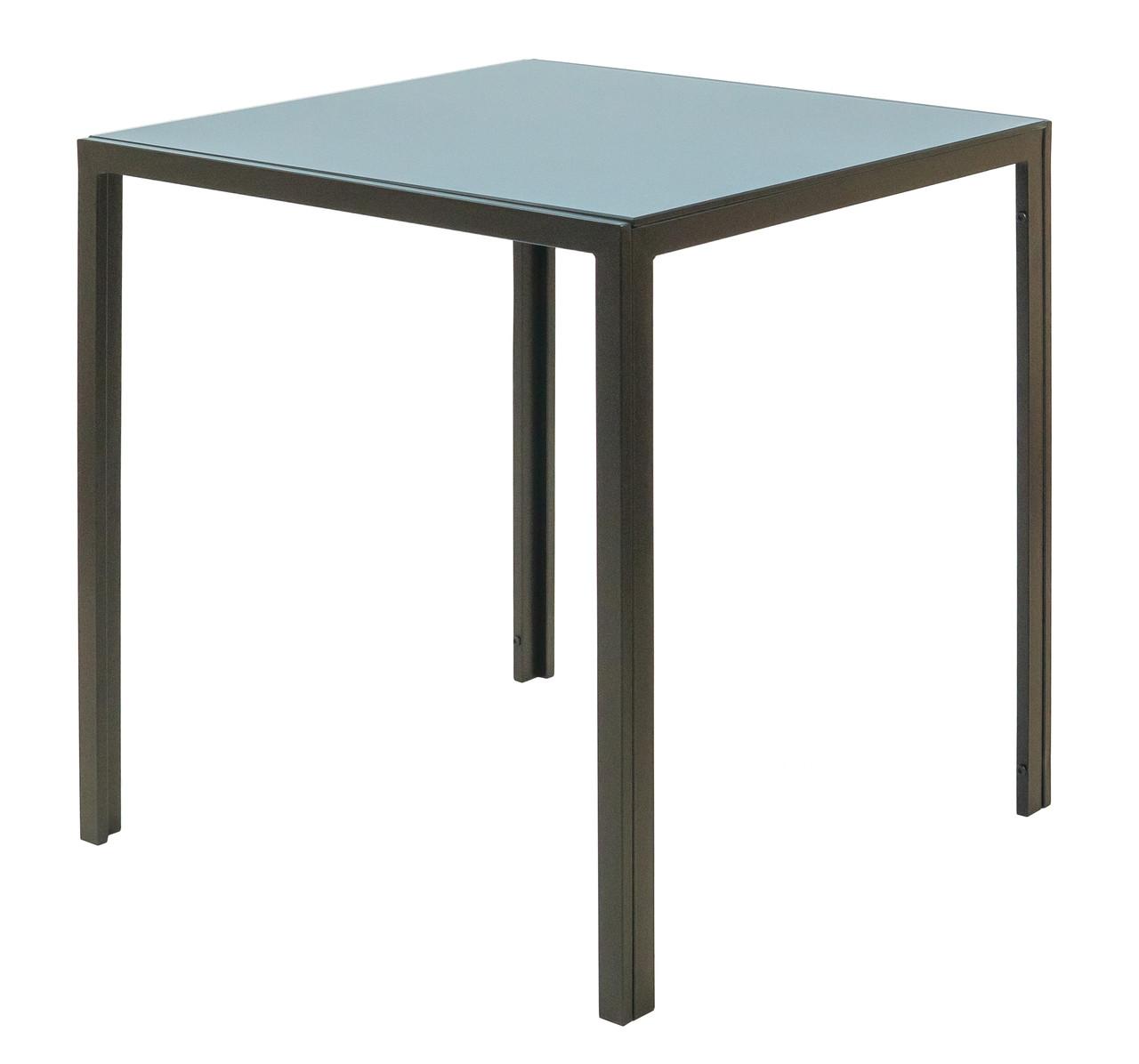 Стол Крит (Черный) (стекло: тонированное)