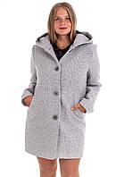 Модное женские осенние пальто  42-60 серый