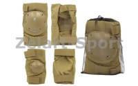 Защита тактическая наколенники, налокотники (р-р XL, ABS, полиэстер 600D светлый хаки)