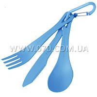 Набор столовых приборов Sea to Summit Delta Cutlery Set, (ложка, вилка, нож), голубой