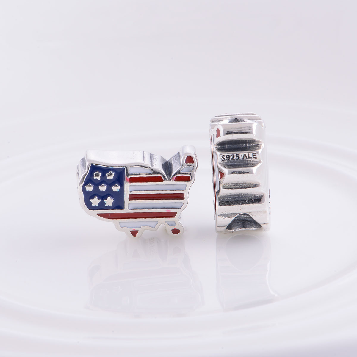 "Шарм бусина Pandora (Пандора) ""USA"" - Интернет-магазин ""SunKi"" в Киеве"