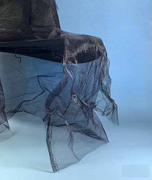 Колпак ведьмы изношенный черный с фатином, фото 2