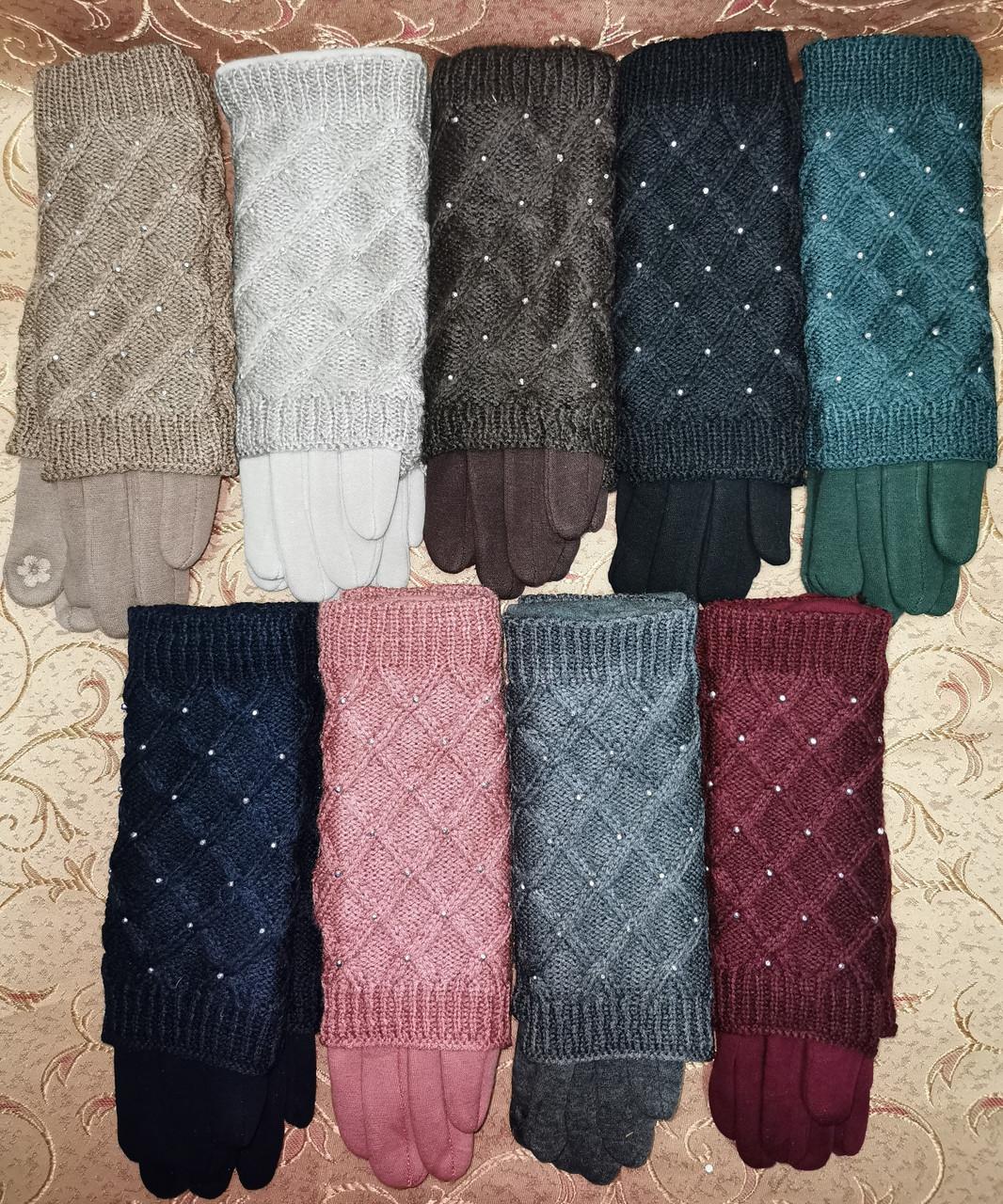Сенсорны вязание шерсти трикотаж женские перчатки с сенсором для работы на телефоне плоншете оптом
