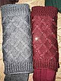 Сенсорны вязание шерсти трикотаж женские перчатки с сенсором для работы на телефоне плоншете оптом, фото 3