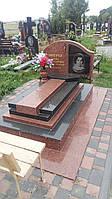 Надмогилля памятник із червоного граніту на могилу