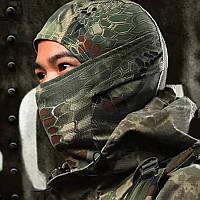Балаклава маска (Ниндзя 2) Зеленая, Унисекс