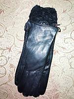 Кожа натуральная с Арктический бархат женские перчатки только оптом, фото 1