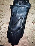 Кожа натуральная с Арктический бархат женские перчатки только оптом, фото 3