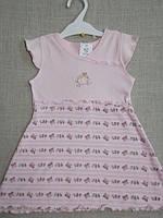Платье для новорожденных  0-18 мес. хлопок С+3