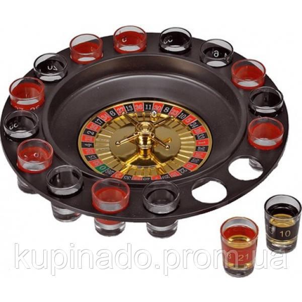 Игровой набор Рулетка на 16 рюмок