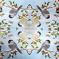 """Салфетка декупажная 33x33см 28 """"Зимняя птица"""" (товар при заказе от 200 грн)"""