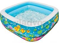 Детский надувной бассейн 57471 аквариум