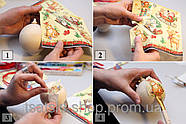 """Салфетка декупажная 15x15 см 27 """"Новогодний венок с бантом"""", фото 2"""