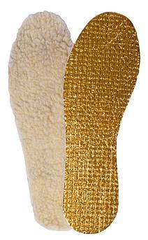 Зимние стельки «Фольга золотая + мех», р-р 37