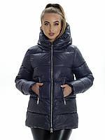 Куртка- пуховик женский Irvik ZP3181 темно серый