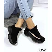 Кроссовки женские Violeta Yeezy, черные, материал - текстиль, подошва - пена, код FN-23865.