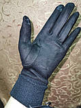 Замш на манжете с сенсором качество женские перчатки для работы на телефоне плоншете стильные только опт, фото 7