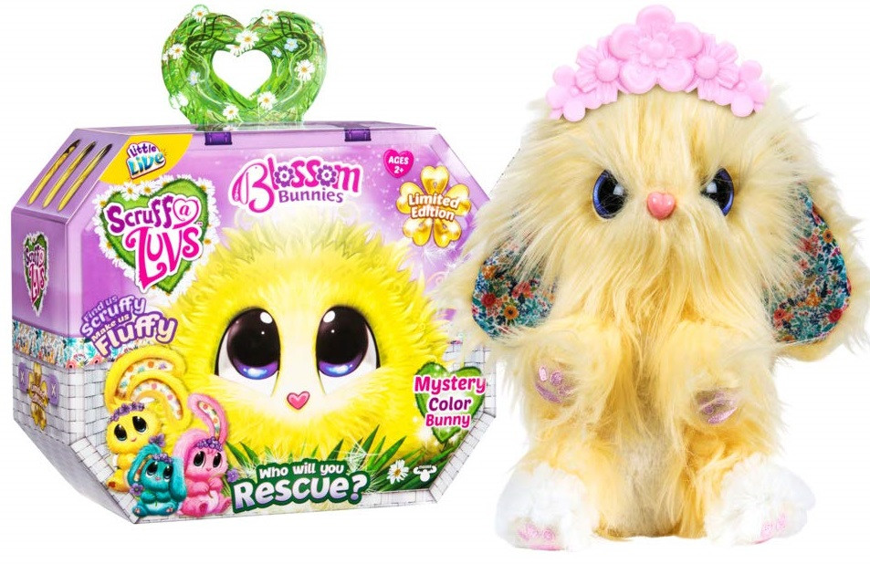 Няшка - Потеряшка плюшевый питомец сюрприз зайчики Little Live Scruff-A-Luvs - Blossom Bunnies