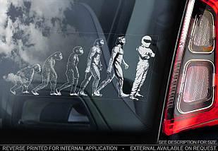 Эволюция человека стикер