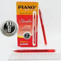 """Ручка PT-1155 Piano """"Simple"""" шариковая масляная, КРАСНАЯ 0,7-1мм уп50"""