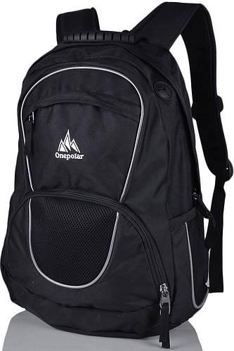Городской повседневный рюкзак 25 л. Onepolar W1674-black черный